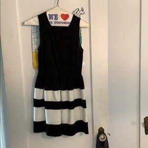 Black and White Dress Barley Worn